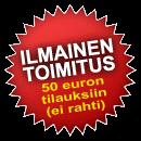 Ilmainen toimitus yli 50 euron tilauksiin
